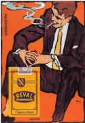 VINTAGE REVAL CIGARETTES ADVERTISING POSTER GERMANY